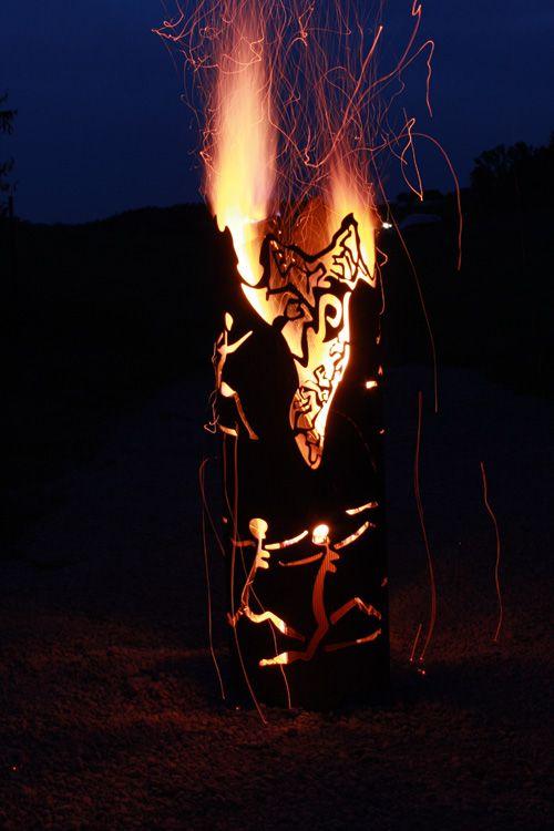 Feuerschale rost edelrost eisen rostig mit motiv stabil for Gartendeko eisen rostig