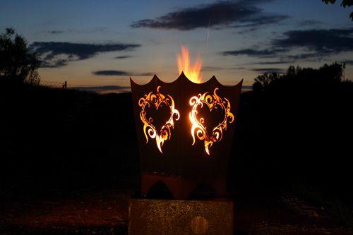 Feuerschale Rost Edelrost Eisen rostig mit Motiv stabil ...