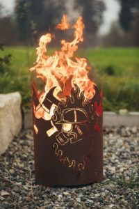 Feuerkorb Atemschutz rund (1) - 1-0547