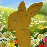 Frühling Ostern Rost Deko