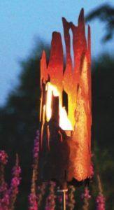 Windlicht aus Metall als Treibholz Deko