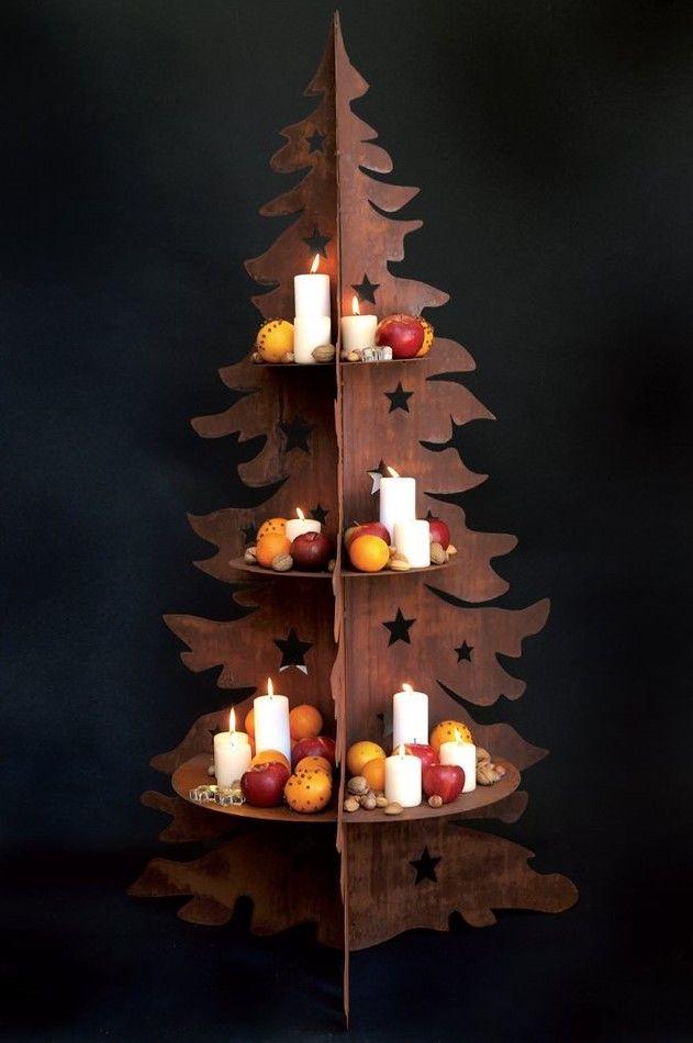 Weihnachtsbaum metall bilder rost deko - Deko weihnachtsbaum metall ...