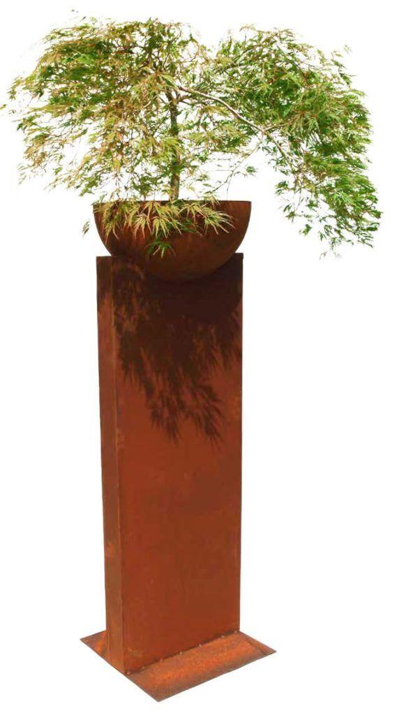 Bambus Deko Säule mit Pflanzschale